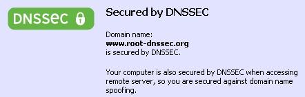 Notificación de DNSSEC